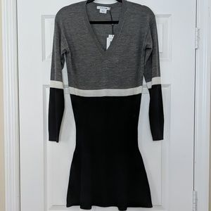 NWT Lacoste Extra Fine Merino Wool Sweater Dress